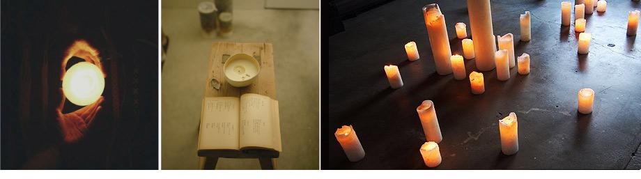 河合悠 蝋燭の展示販売