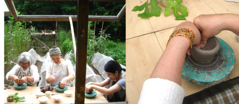 星ヶ丘学園 お月見WS 陶芸「たまづくり」体験